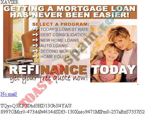 toastedspam.com lowratemortgages.info 0002 - 2003-03-30	mortgage - www.lowratemortgages.info/lead2345 mailto:mortgage9007@yahoo.com
